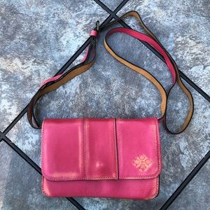 Patricia Nash Red Leather Crossbody Bag